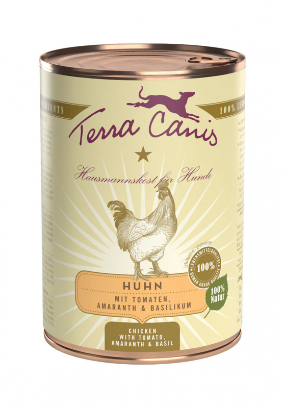 Terra Canis Classic Meals, Chicken with Amaranth, Tomato & Basil 400 g