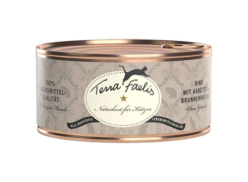 Terra Faelis Blikje Rundvlees met Wortel en Waterkers 100 g