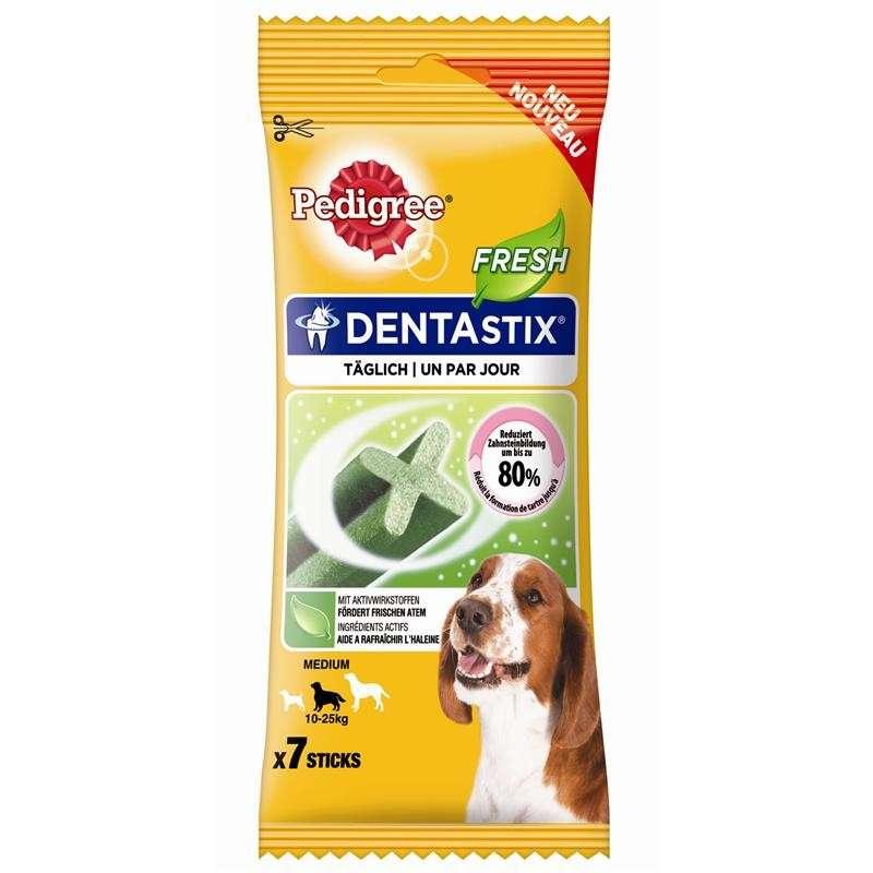 Pedigree Snack DentaStix Fresh pour Chiens de taille moyenne 180 g