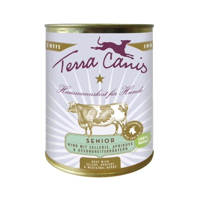 Terra Canis Senior Menu, Rund met Selderij, Abrikoos en Gezonde Kruiden 800 g