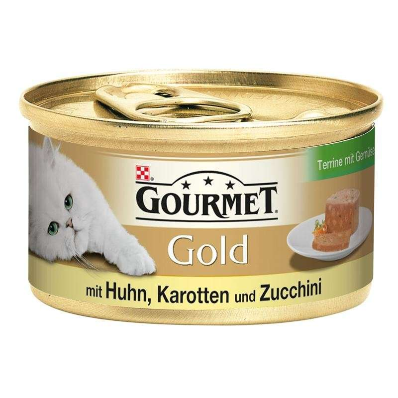 Purina Gourmet Gold - Terrine with Chicken & Carrots and Zucchini 85 g test