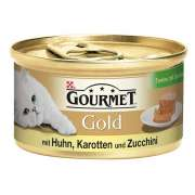 Purina Gourmet 12x85g Gold Terrines Poulet, carottes & courgettes achetez en ligne pour chat