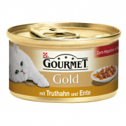 Purina Gourmet Gold Møre Bidder, Kalkun & And en Sauce 85 g