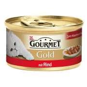 Purina Gourmet 12x85g Gold HiS Bœuf achetez en ligne pour chat