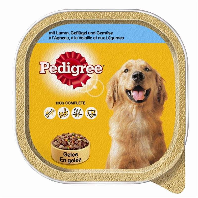 Pedigree Lamb, Poultry and Vegetables in Jelly 300 g kjøp billig med rabatt