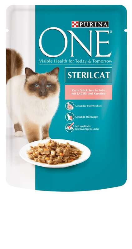 Purina ONE Sterilised  Laks & gulerødder 85 g test