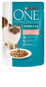 Purina ONE Sterilised  Laks & gulerødder 85 g