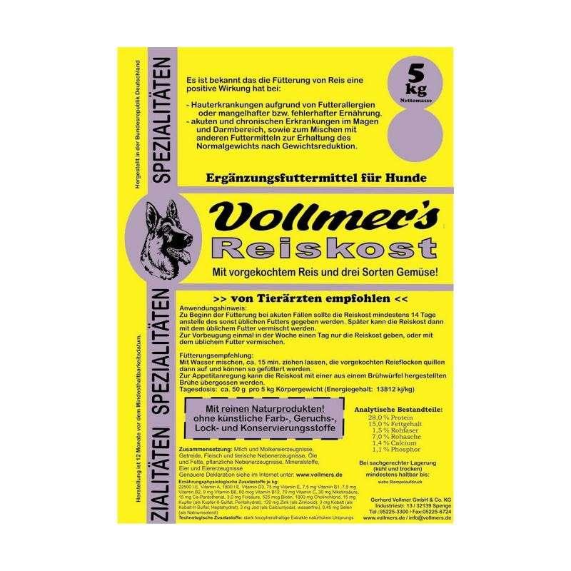 Vollmer's Alimento de Arroz 5 kg, 10 kg