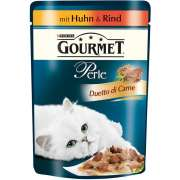 Purina Gourmet Perle Duetto di Carne met kip & rund 85g speciale aanbieding