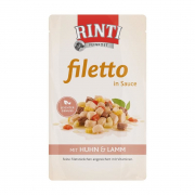 Rinti Filetto in Sauce Chicken & Lamb - Tinned dog food   Discount prices & great offers