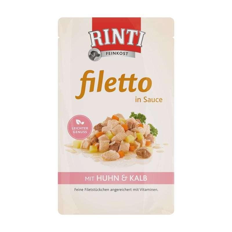Märkäruoka Filetto in Sauce Chicken & Veal 18x125g Rinti osta edullisesti