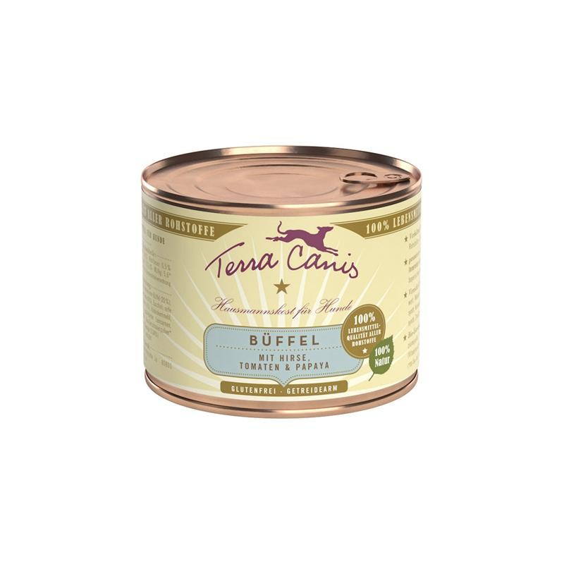 Terra Canis Menu Classic, Buffle, Millet, Tomates et Papayes 200 g