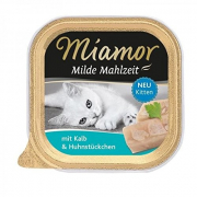 Miamor Milde Mahlzeit Kitten Veal & Chicken pieces 100 g
