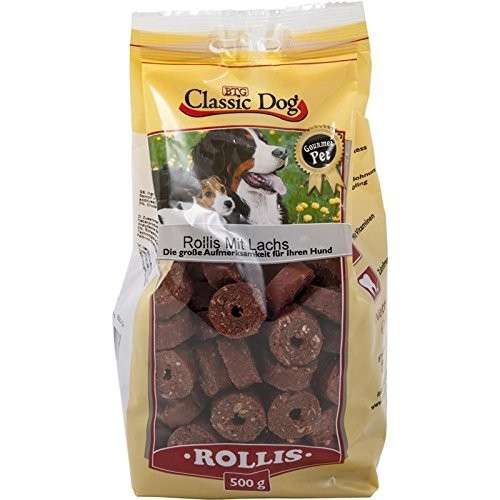 Classic Dog Snack Rollis with Salmon 500 g