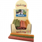 Classic Dog Snack Chewing stick, Gluten Free, Midi 17 cm in beige, red or green 70 g