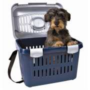 Trixie Transport Box Midi-Capri, Blue/Silver