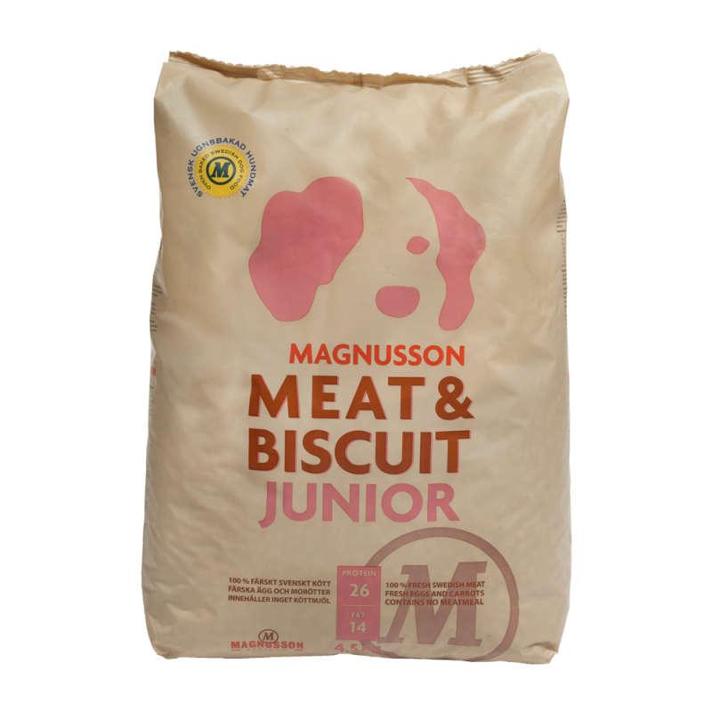 Magnusson Meat & Biscuit Junior 4.5 kg, 10 kg test