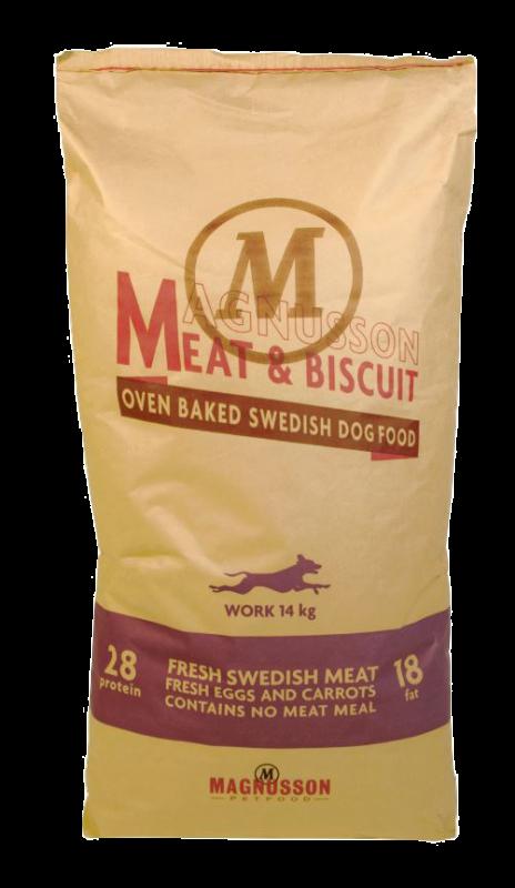 Magnusson Work Meat & Biscuit 14 kg, 4.50 kg kjøp billig med rabatt