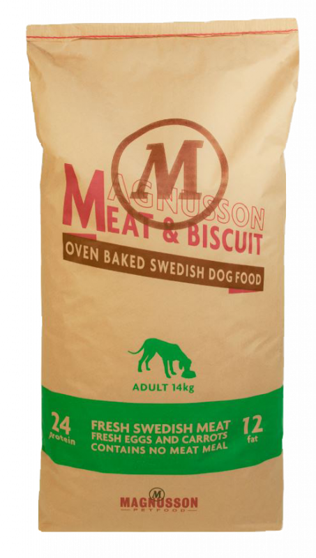 Dry food Meat & Biscuit Adult 14Kg, 4.5Kg by Magnusson Buy fair and favorable with a discount