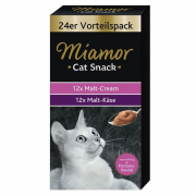 Miamor Cat Snack Malt-cream & Malt-ost Multibox 24x15 g