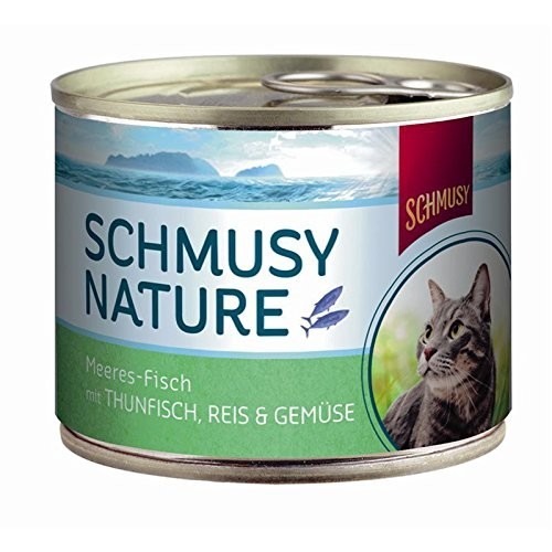 Schmusy Natural Ocean Fish Tuna, Rice & Vegetables 185 g