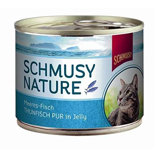 Schmusy Nature Peces-Marinos Puro Atún in Jelly 185 g
