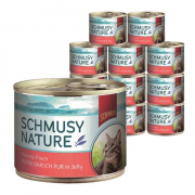 Kissan märkäruoka Schmusy Natural Ocean Fish - Pure red perch 185g