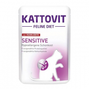 Kattovit Feline Diet Pouch - Sensitive with Chicken & Duck 85 g