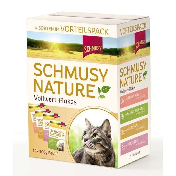 Nature Whole Food Flakes Multipack by Schmusy 12x100 g buy online