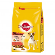 Adult Mini with Beef Steak and Vegetables Pedigree 1.4 kg