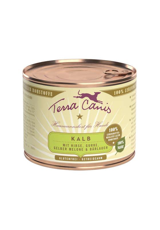 Terra Canis Menü Classic, Kalb mit Hirse, Gurke, Gelber Melone & Bärlauch 200 g