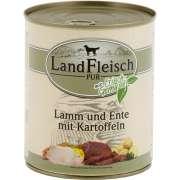 Alimento húmedo para perros   Landfleisch 800g Pure Pato y Arroz con Verduras comprar para tu perro con descuentos