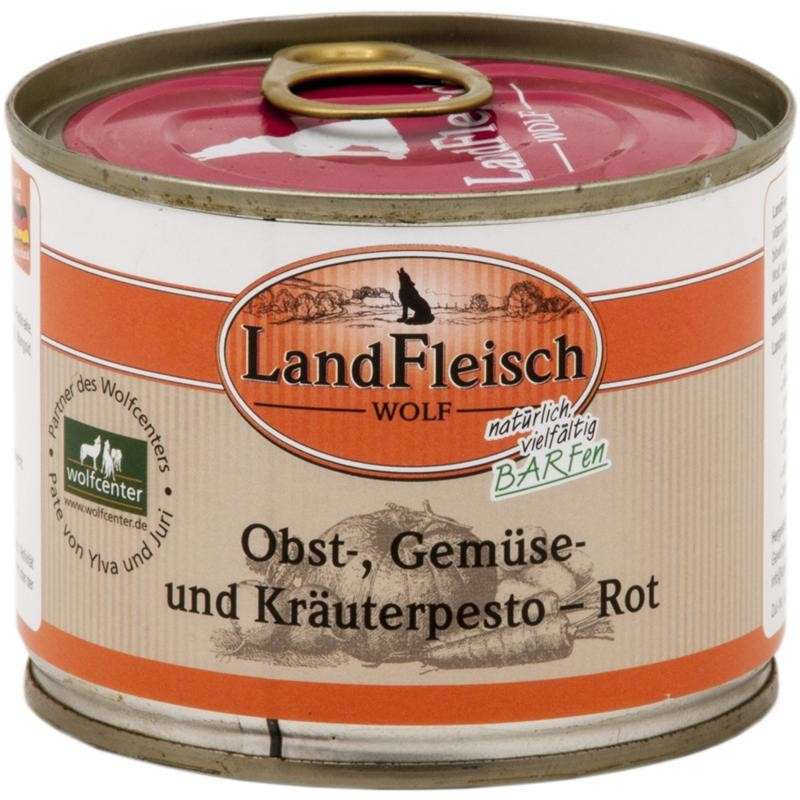 Landfleisch Wolf Fruit, Vegetable & Herbs pesto Red Can 200 g 4003537005117 erfaringer