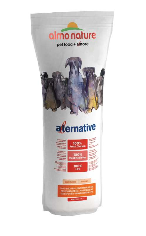 Almo Nature Alternative Medium + Large - Tuoretta Kanaa ja Riisiä 3.75 kg, 9.5 kg