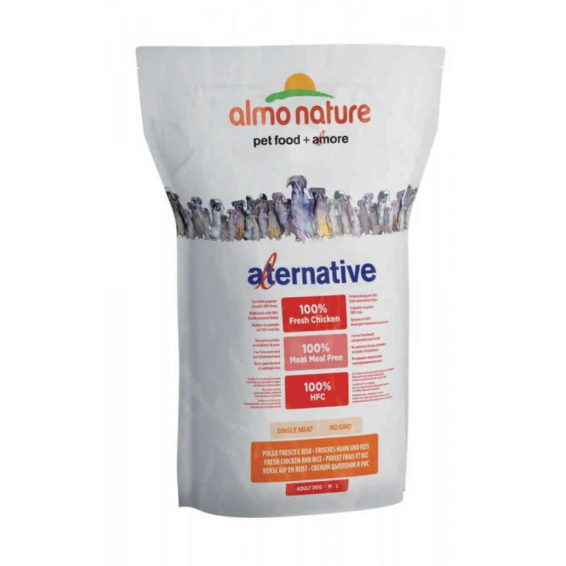 Almo Nature Alternative Medium + Large - Tuoretta Kanaa ja Riisiä 3.75 kg
