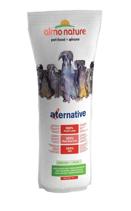 Almo Nature Alternative Medium + Large - Tuoretta Lammasta ja Riisiä 9.5 kg