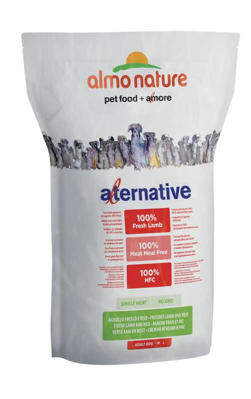 Almo Nature Alternative Medium + Large Lam en Rijst 3.75 kg, 9.5 kg