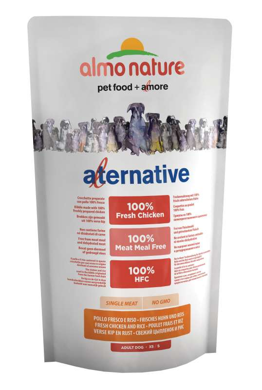 Almo Nature Alternative Extra Small + Small Kip en Rijst 750 g