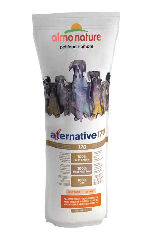 Almo Nature Alternative 170 Medium + Large Kip en Rijst 3.75 kg, 9.5 kg