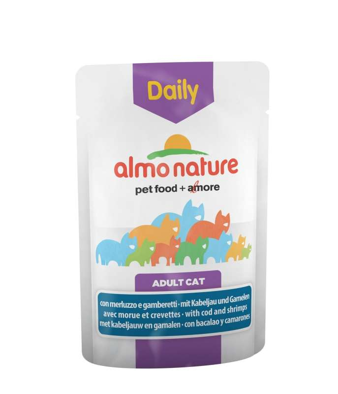 Almo Nature DailyMenu Chunks in gravy with Cod and Srimps 70 g