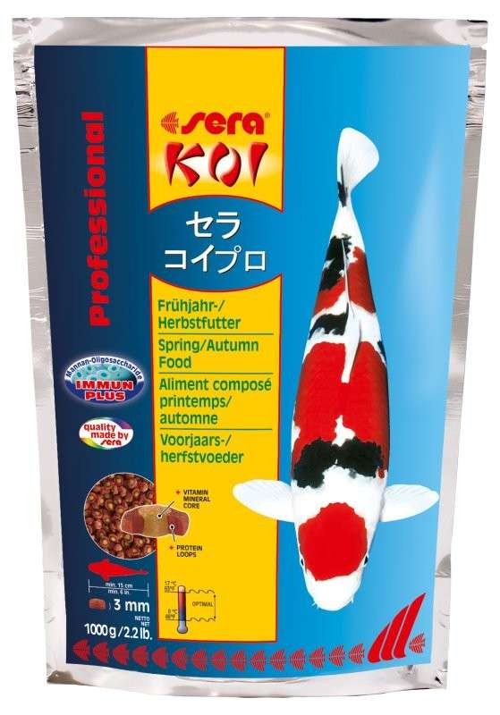 Sera KOI Professional Voorjaars-/Herfstvoeder 1 kg 4001942070126
