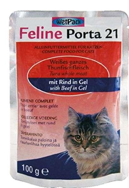 Feline Porta 21 Tun med okse 100 g