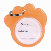 I.D. Tag for Dogs, phosphorescent from Trixie Light orange