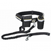 Waist Belt with Leash, black from Trixie Black