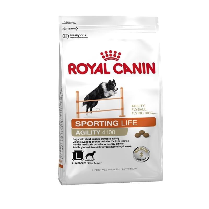 Royal Canin Lifestyle Health Nutrition - Sporting Life Agility 4100 Large 15 kg, 3 kg køb rimeligt og favoribelt med rabat