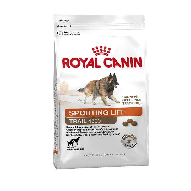 Royal Canin Lifestyle Health Nutrition - Sporting Life Trail 4300 3 kg, 15 kg, 1 kg kjøp billig med rabatt