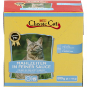 Classic Cat Meal in Fine Sauce with Salmon & Trout Pouch Bag Art.-Nr.: 12167
