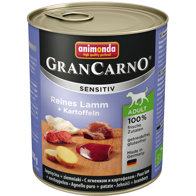 Animonda GranCarno Sensitive Adult Lamb + Potatoes 800 g 4017721824132 erfaringer