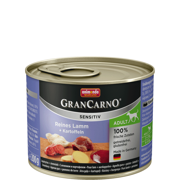 Animonda GranCarno Sensitive Adult Lamb + Potatoes 200 g, 400 g, 800 g