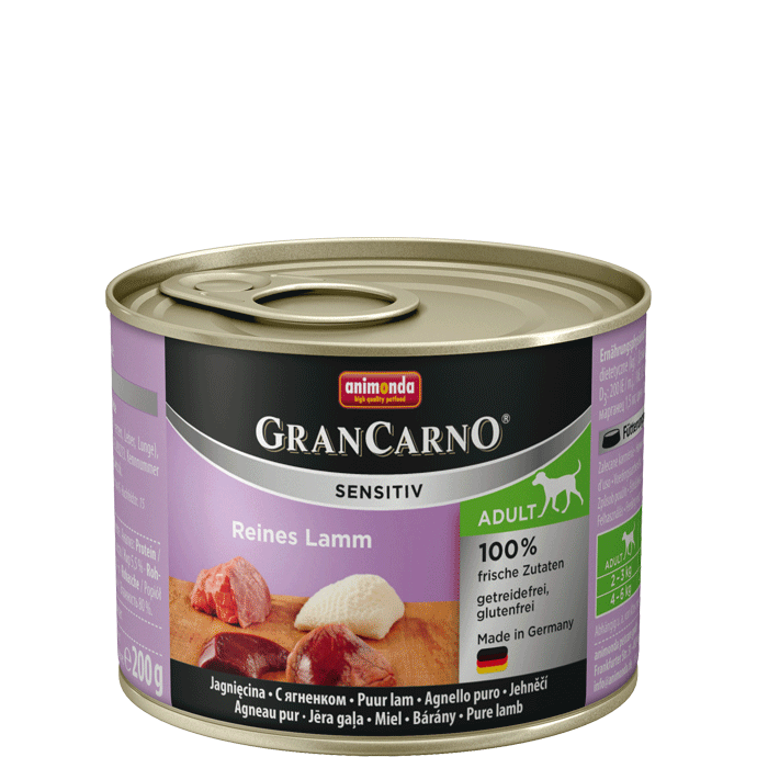 Animonda GranCarno Sensitive Adult Agneau Pur 200 g, 400 g, 800 g